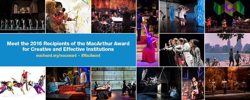 ICYMI, the recipients of the #MacAward, 14 exceptional Chicago arts and culture nonprofits: https://t.co/EejIUtFEqw https://t.co/gH8Kl1v0fM