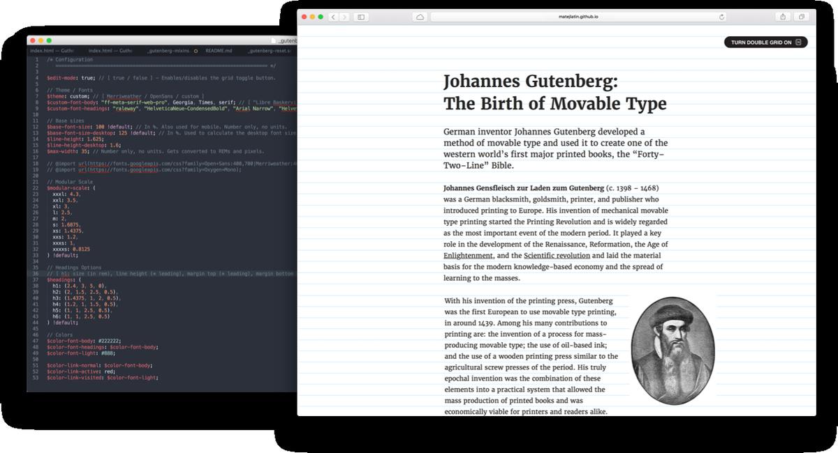 Gutenberg — A Meaningful Web Typography Starter Kit https://t.co/1FIkIQ9O7g https://t.co/nTOT8THt9w