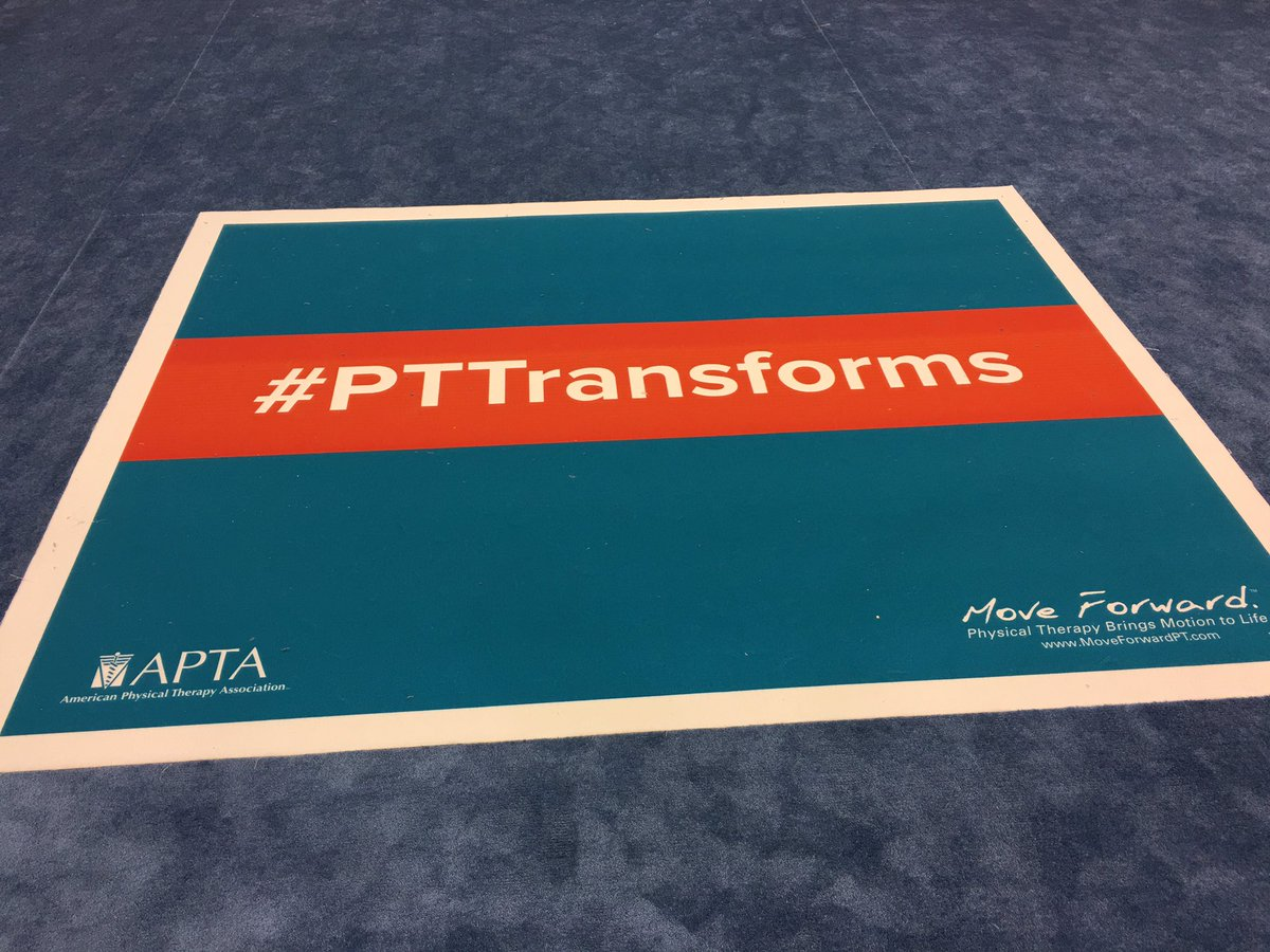 Check out the #PTTransforms gallery at #APTACSM! Such great patient stories about why PT's change lives :) https://t.co/myrwsGakso