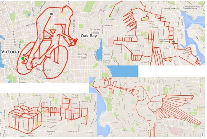 B.C. resident #StephenLund logged 22,300 km to create this GPS #Stravaart on his  #Bike https://t.co/en3JDF3OZM https://t.co/aazeHtc8wL
