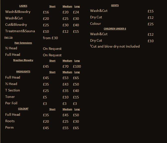 Allure Salon And Spa Prices