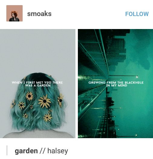 halsey tumblr posts on twitter garden halsey httpstcotiv0p4ms38 - Halsey Garden