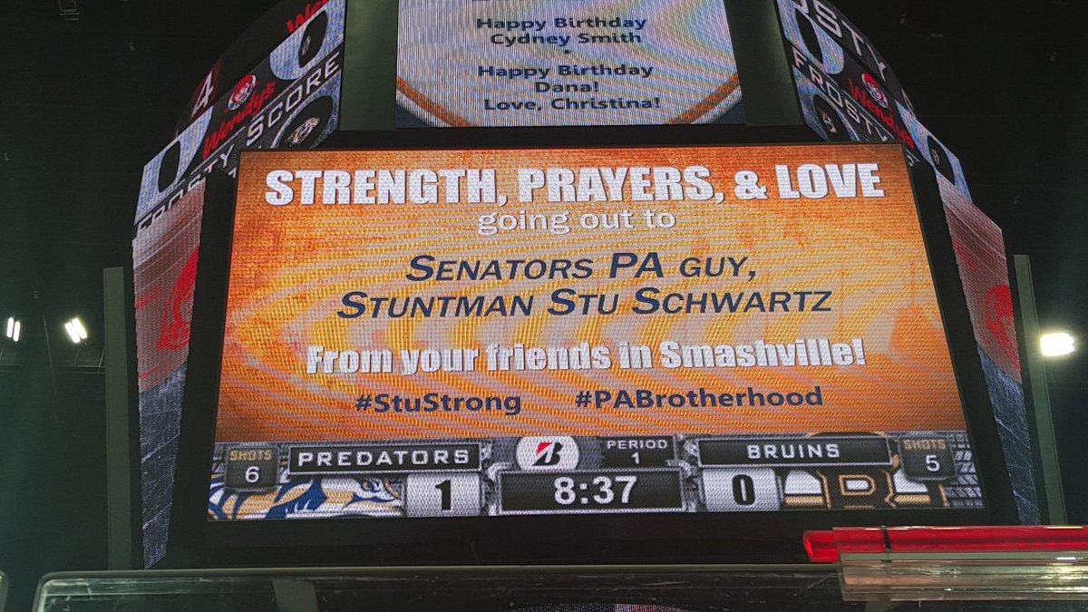 Smashville sending a little love to @StuntmanStu ...  We are all #StuStrong #PABrotherhood https://t.co/YHwWRm9062