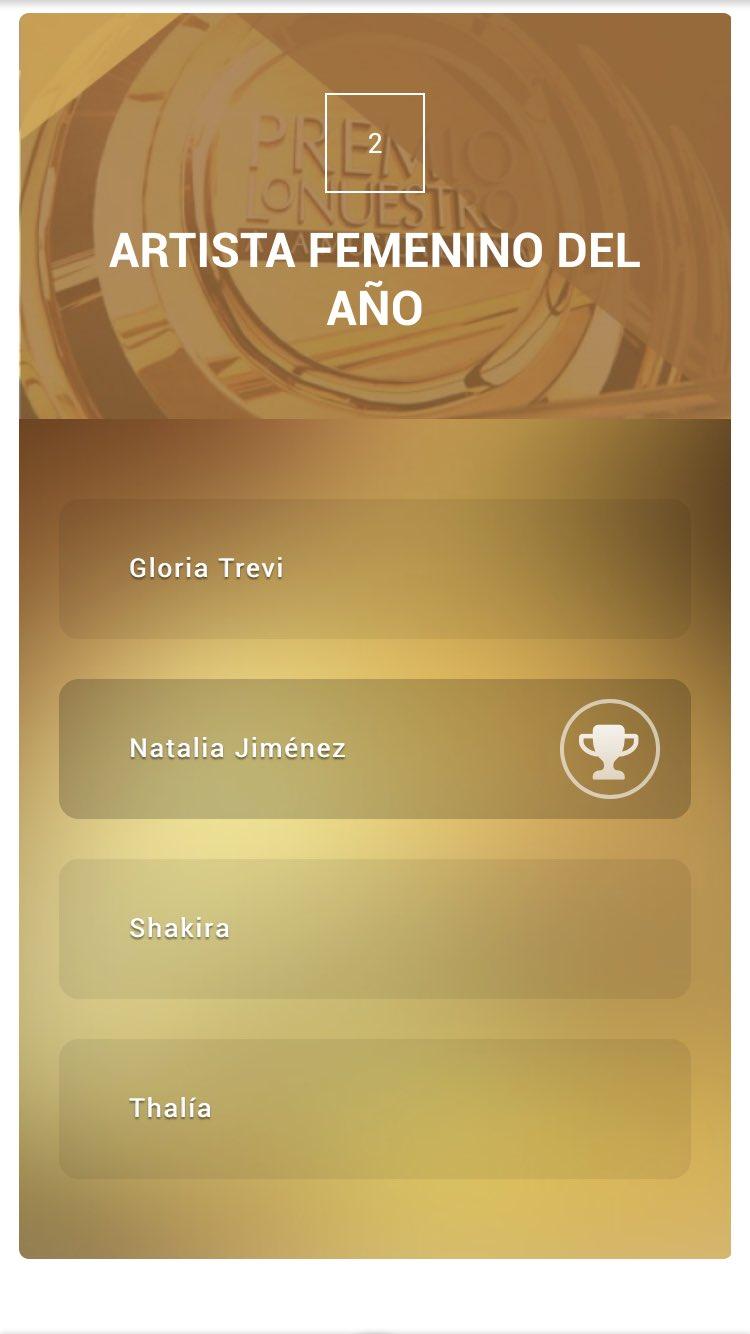 Nominaciones de Natalia Jiménez (Premios, entrevistas, Latin grammy, billboard etc) - Página 2 CbjJ2qYUMAIpVJz