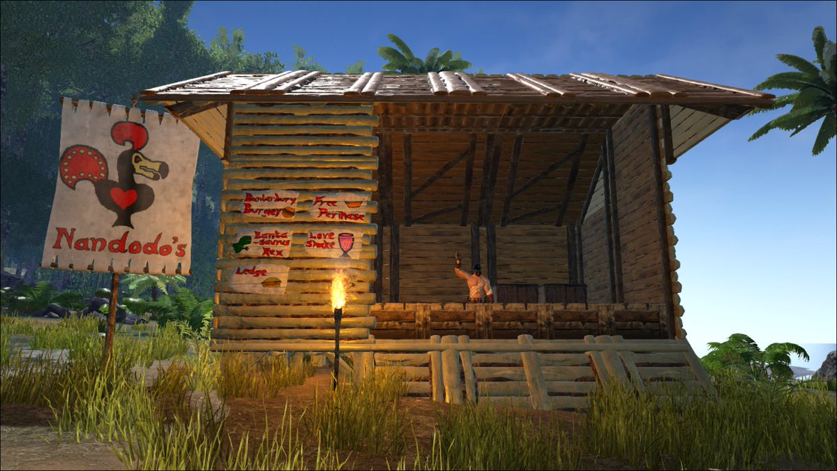 Did I tell you guys about this cheeky food stand I built in @survivetheark? https://t.co/oSMZNz0uDN
