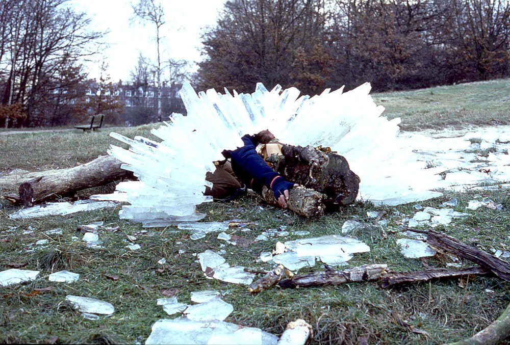 """Adam Scovell on Twitter: """"Andy Goldsworthy building an ice ..."""