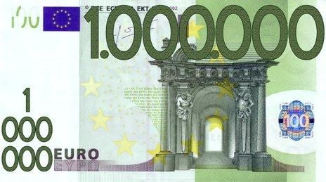 geschreddertes geld 1 million euro