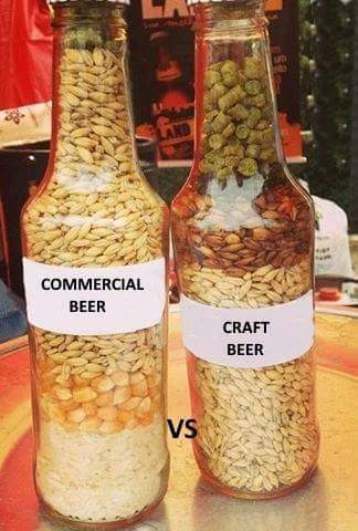La curtius on twitter commercial beer vs craft beer for Craft beer vs microbrew