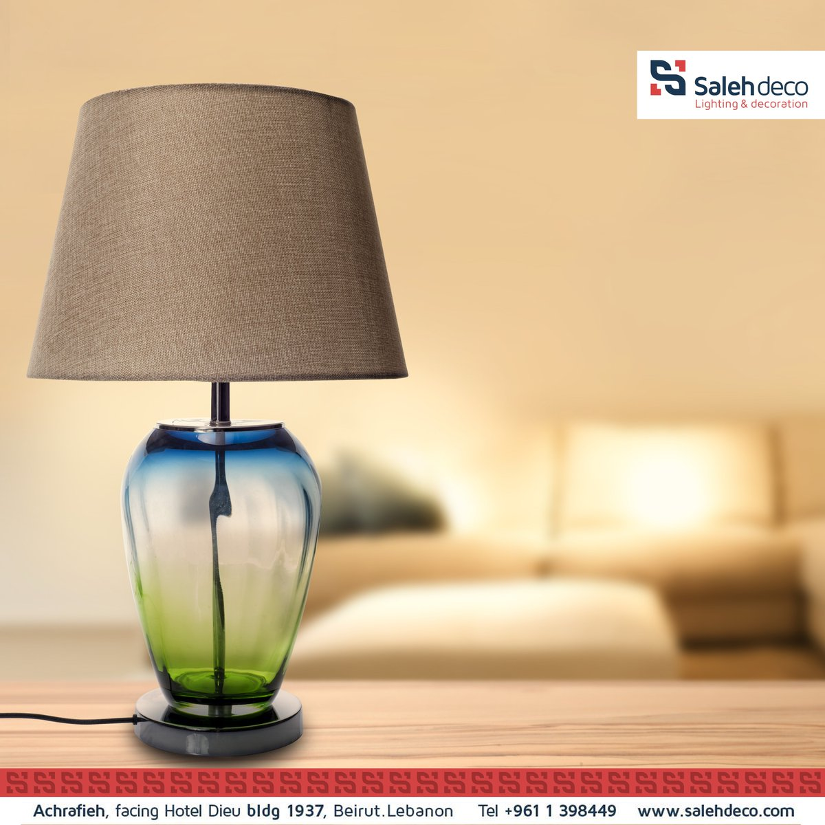 Bring #warmth and #ambiance to your #livingroom with this beautiful #tablelamp. available at #SalehDeco showroom https://t.co/JOK7b1r0UP