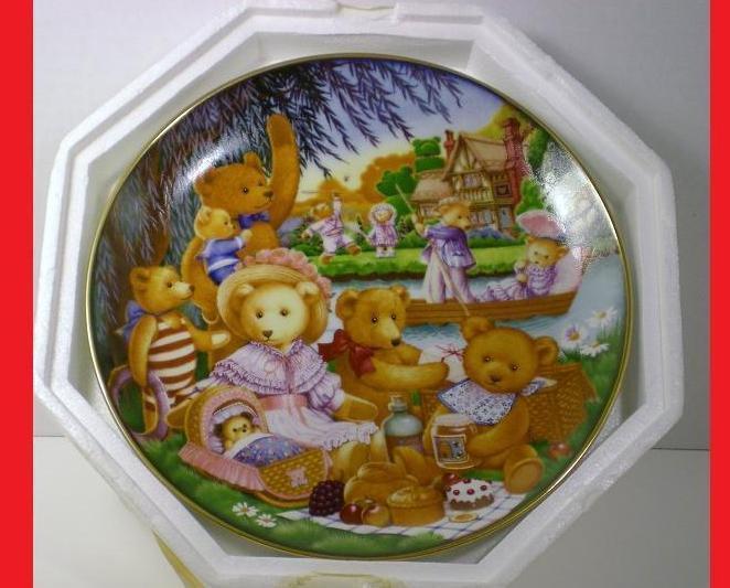 Teddy Bear Picnic Franklin Mint #decorative plate 1991  #decor #teddybear