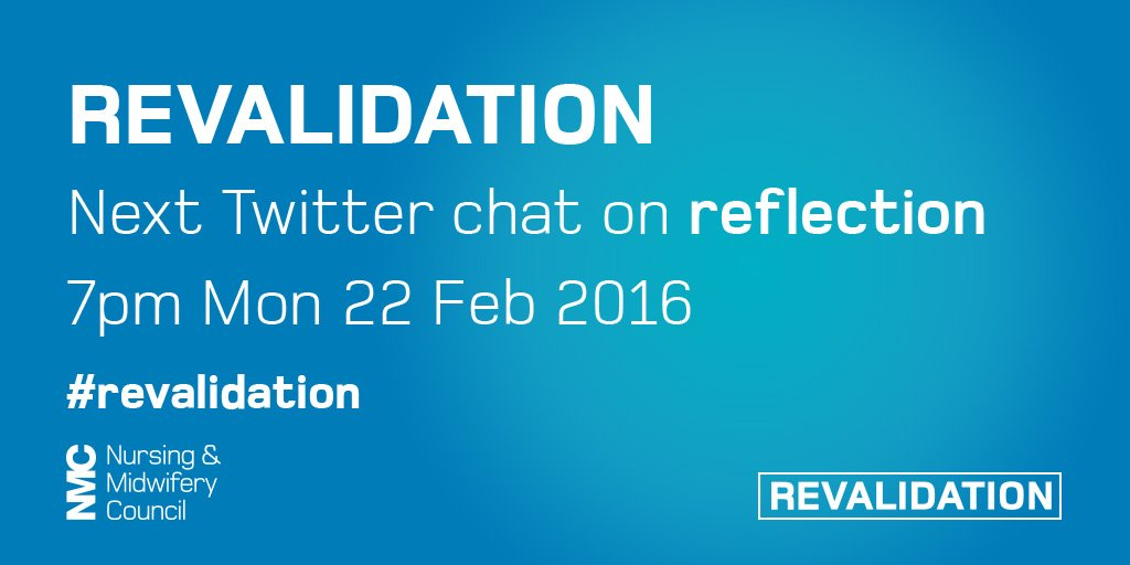 Thumbnail for Twitter chat: Reflection in #revalidation