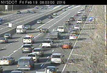 Westbound LIE accident Vets Highway News Traffic Weather