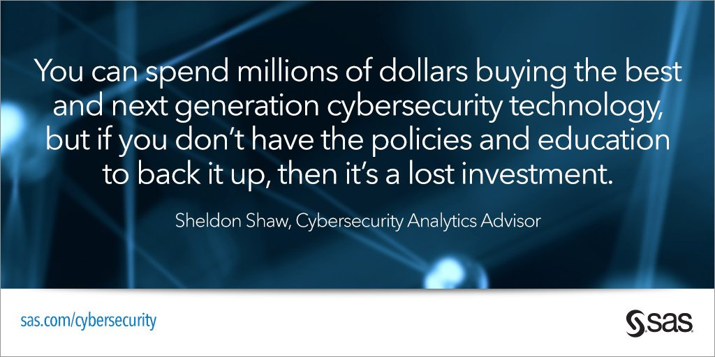 Optimize your #cyber investments w/ analytics. Meet @cyber_analytics & SAS team at #RSAC https://t.co/nYsHcNZiPG https://t.co/WQkr1EHPTk