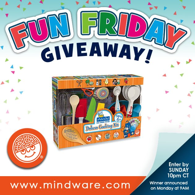 Happy Friday! Enter to win Playful Chef Deluxe Cooking Kit on our Facebook page! #Giveaway #EnterToWin #MindWare https://t.co/FHRzmKH57k