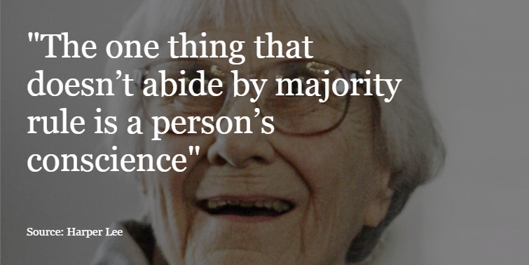 RIP Harper Lee. Remembering the most powerful quotes from To Kill a Mockingbird. https://t.co/Magc5Efuyi https://t.co/uGHn50FkFJ