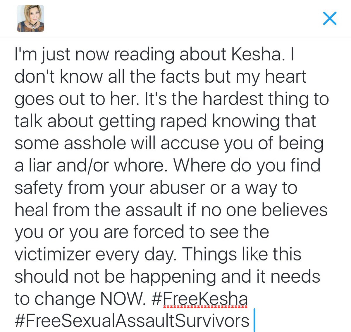 Sexual/physical abuse needs 2B talked about, not avoided or dismissed. #WeNeedChange #StrengthenHumanity #FreeKesha https://t.co/BdY2fmb97I