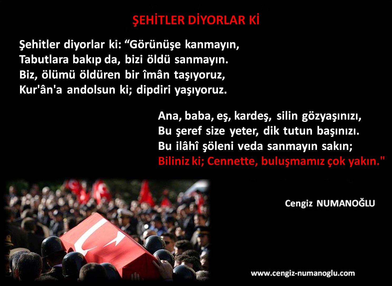 Cengiz Numanoğlu On Twitter şehitlerölmezbubayrakinmez şehitlik