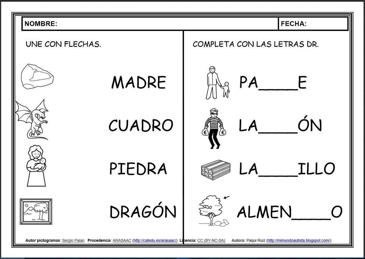 """Dibujos Con La Trabada Br: ARASAAC On Twitter: """"""""Fichas De Lectoescritura: Sílabas"""