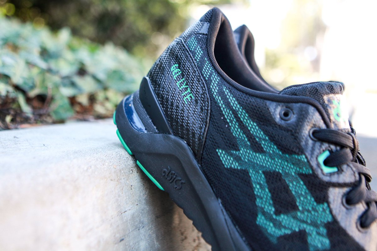 BAIT on Twitter: Asics Tiger Men's Gel Lyte Evo NT in black & spectra green is at t.col9saU4uHlP in sizes 4 13 for $120. t.cos12SeIoUgV