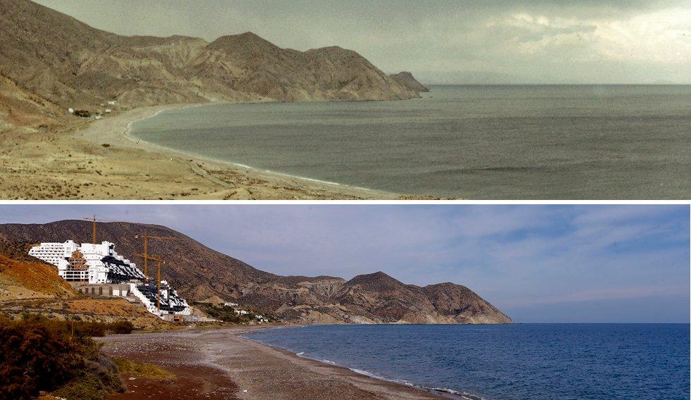 Resultado de imagen de Playa del algarrobico antes y despues del hotel