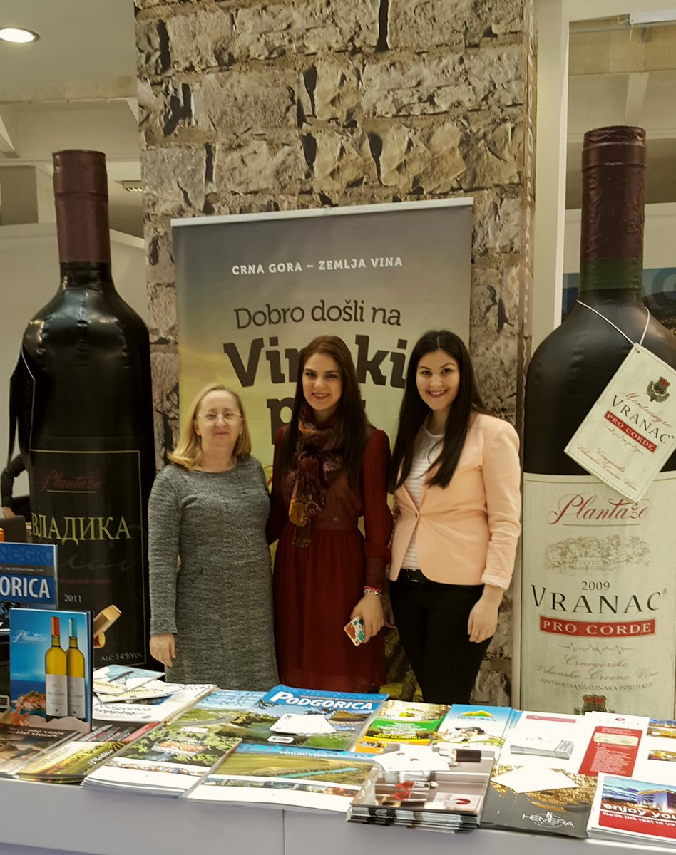 Belgrade Tourism Fair. Promoting new wine tours.#MontenegroAdventures https://t.co/A3RaYeCthg