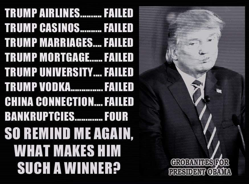 Every time someone tweets me abt how successful @realDonaldTrump is,  I shall post this pic. #Trump2016 #dumptrump https://t.co/aQK4LdN7Ti