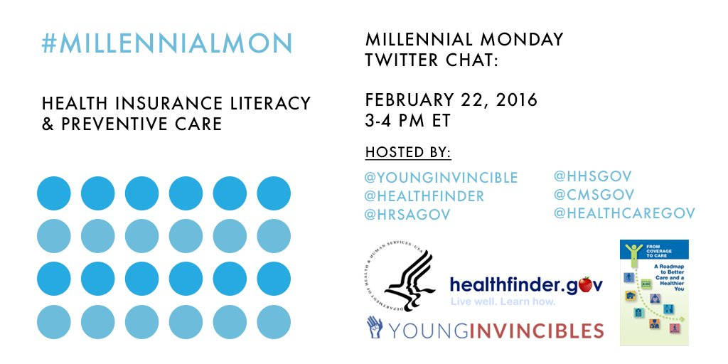 TODAY is #MillennialMon. Join us @ 3PM ET we're living #healthy with a guide to understanding your #health coverage https://t.co/rXgjZTxp09