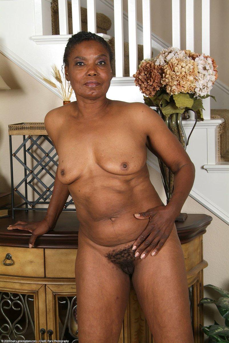 Hairy Ebony Mature 40