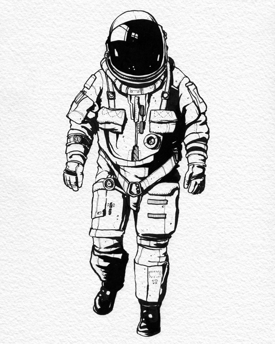 Rob Turpin On Twitter U0026quot;Astronautu2026 #illustration #spaceman #inky Https//t.co/dh6PNc6XUou0026quot;