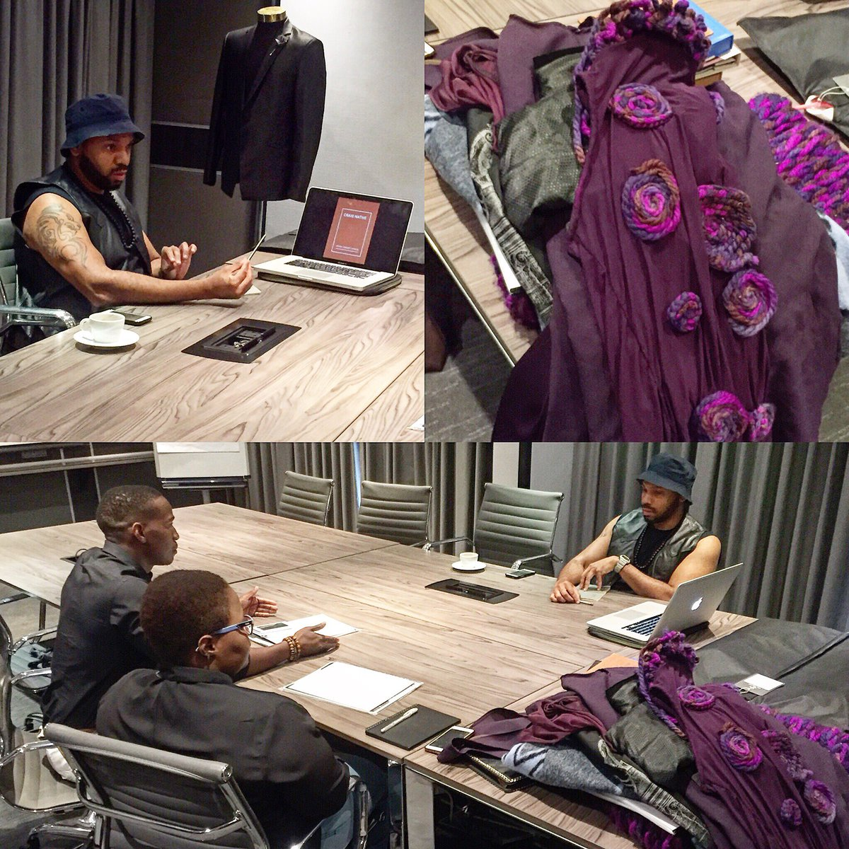 International fashion designer @craignative000 talking fashion with the @oudemeesterSA #ivejustbegun participants. https://t.co/Xu96DGXLPI