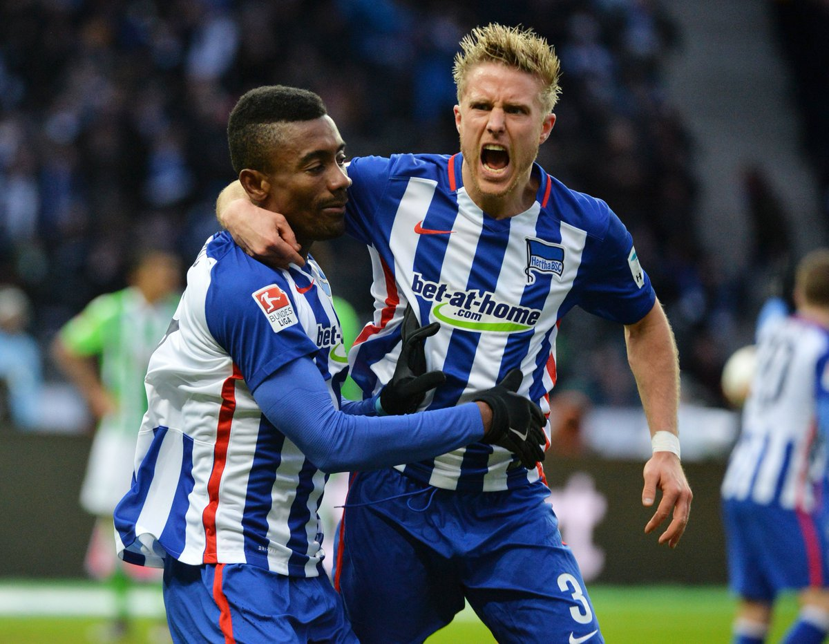 Hertha conseguiu seu gol com Kalou no rebote