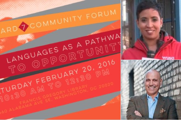 Proud to moderate this important forum on language immersion in #ward7 education. TODAY 1030AM. @wusa9 https://t.co/aiS4IBxWKU