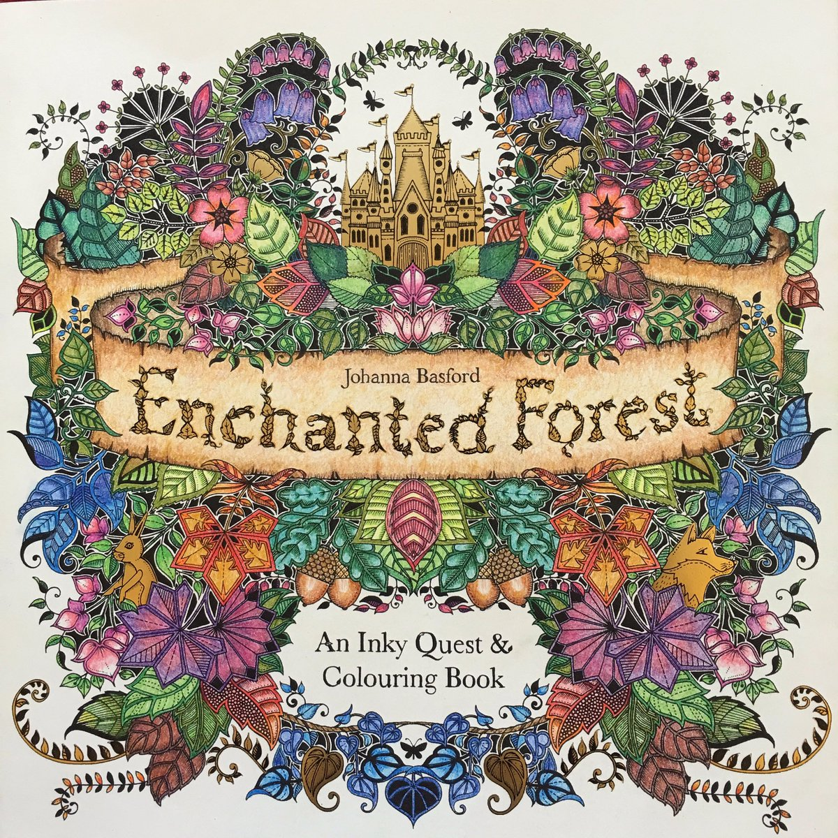 Surabhi On Twitter So Happy To Have Started Johannabasford Enchanted Forest Colouring Book This Is My Completed Front Cover Tco Ub7nWwBZGP
