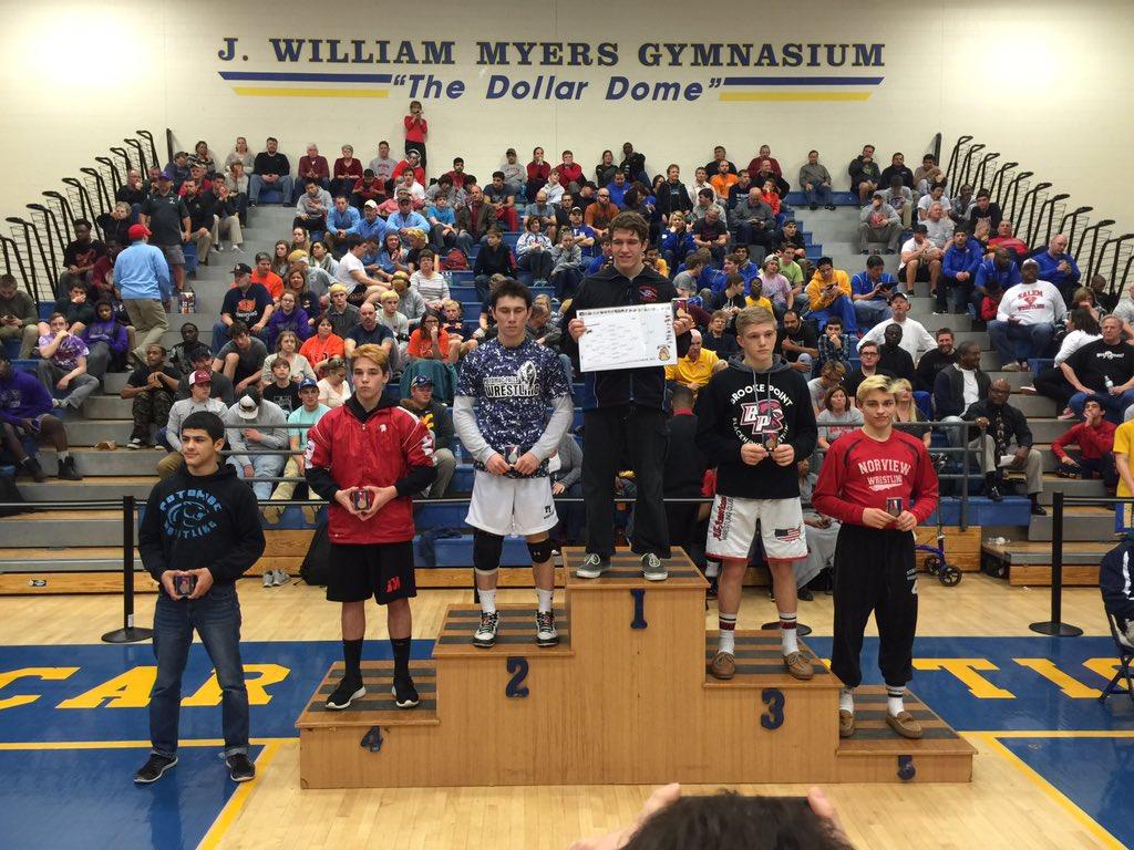 5A States 4th Place: 126 Noah Roulo #Matoaca – at Oscar Smith High School
