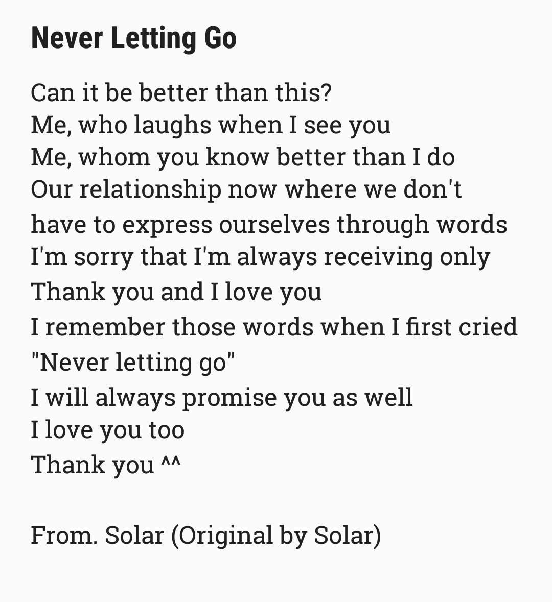 Songs about letting go