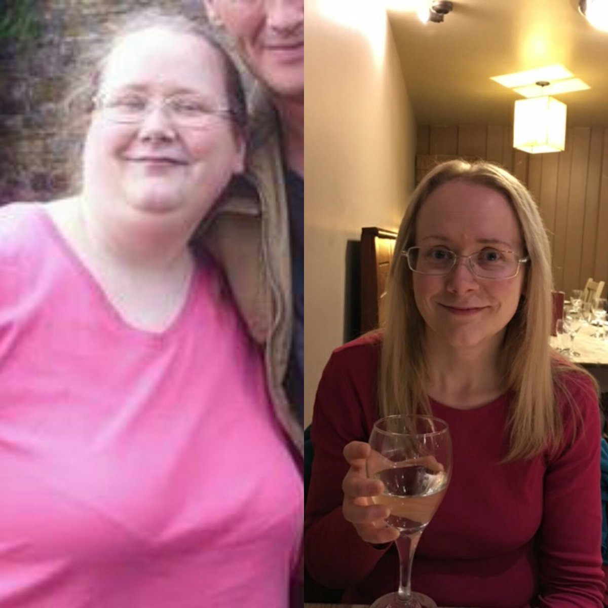 Unbelievable when I look back. 8 stone (112 lbs) weight difference. Simply life changing #slimmingworld https://t.co/n4pUVvgTv1