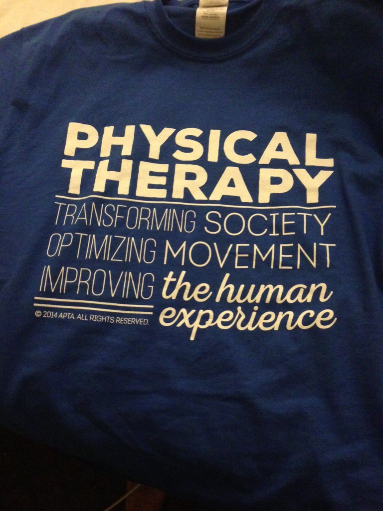 An appropriate shirt for a PT conference #APTACSM #DPTstudent #transforming https://t.co/hHoZRyAKEN