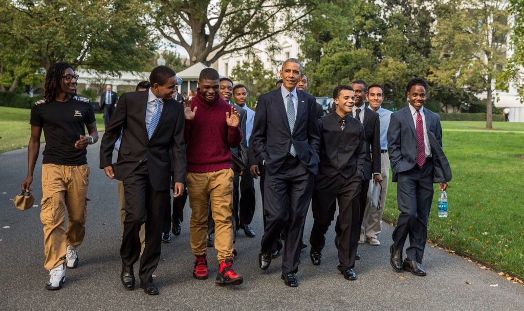 #ObamaAndKids  The MY Brother's Keeper mentees are on the way to being men, but let's remember they're still kids https://t.co/f3gbDfAMnC
