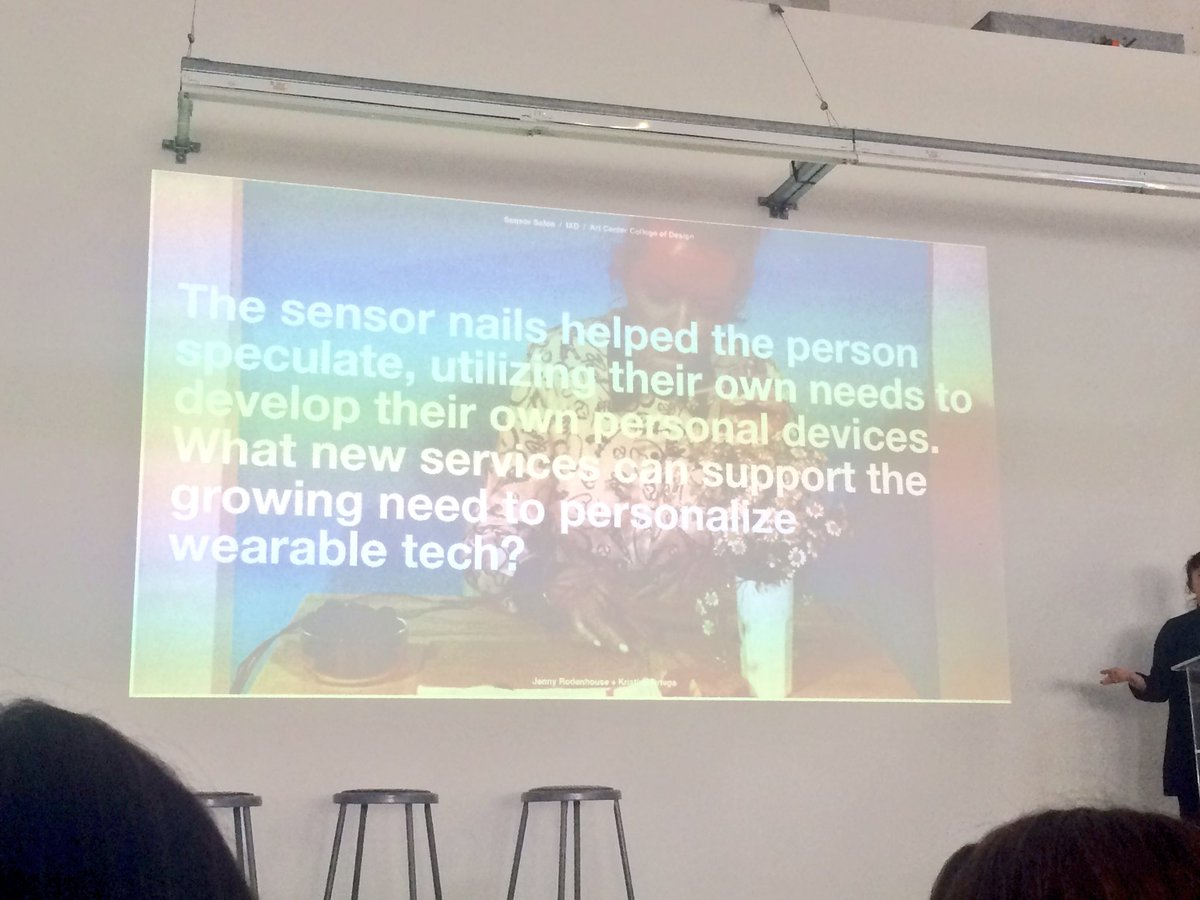 .@JennyRodenhouse on personalized wearable tech on nails, like proximity sensors. #WIADLA #WIAD16 https://t.co/8FiIp5z4bk