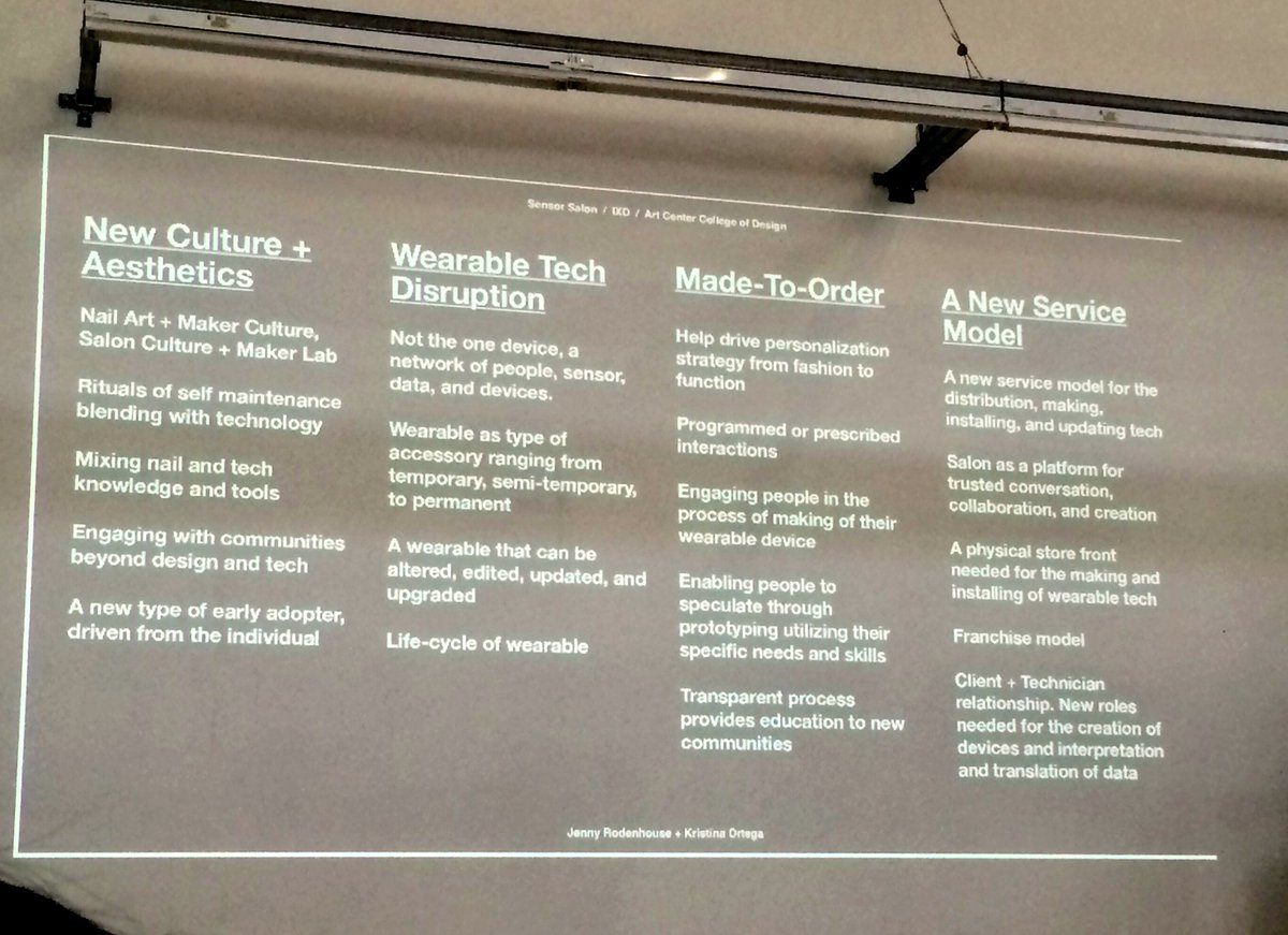 What @JennyRodenhouse @artcenteredu learned from  Sensor Salon project. Interesting combo of ideas. #WIADLA #WIAD16 https://t.co/e1SQv94ral