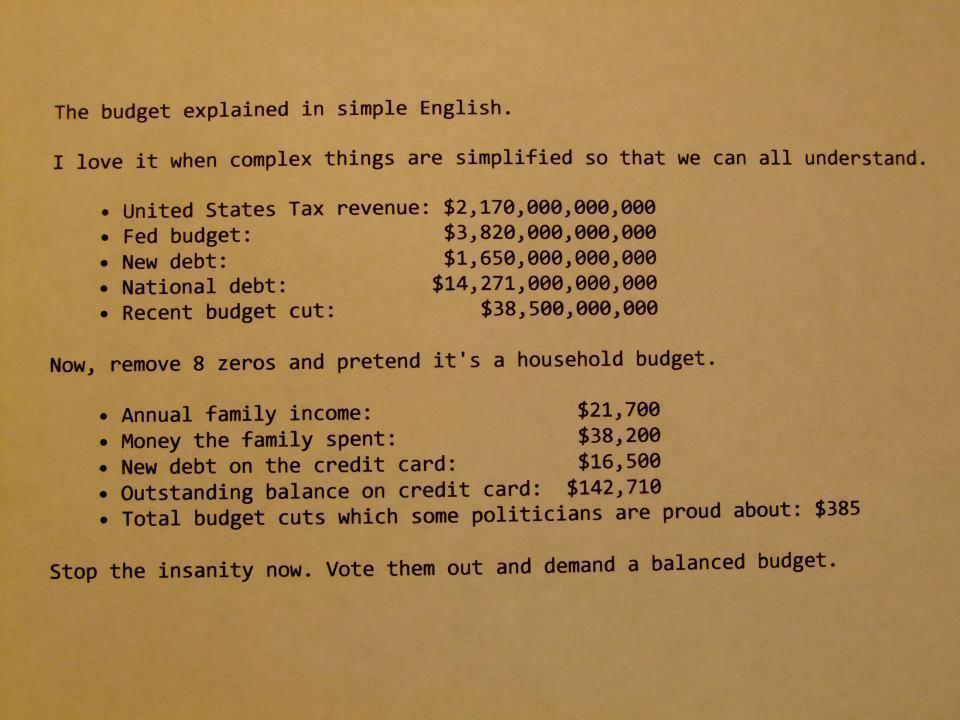 don dodge on twitter usa federal budget in simple family budget