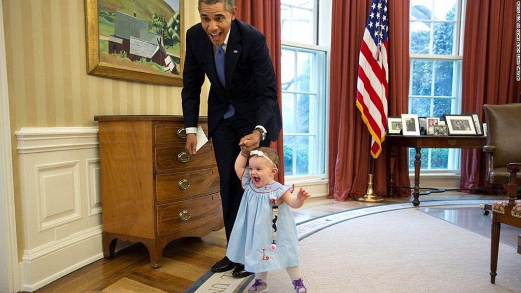 My favourite #ObamaAndKids picture. There is a certain unbridled  joy in this one :) @MichaelSkolnik https://t.co/f8YKvNVbLs