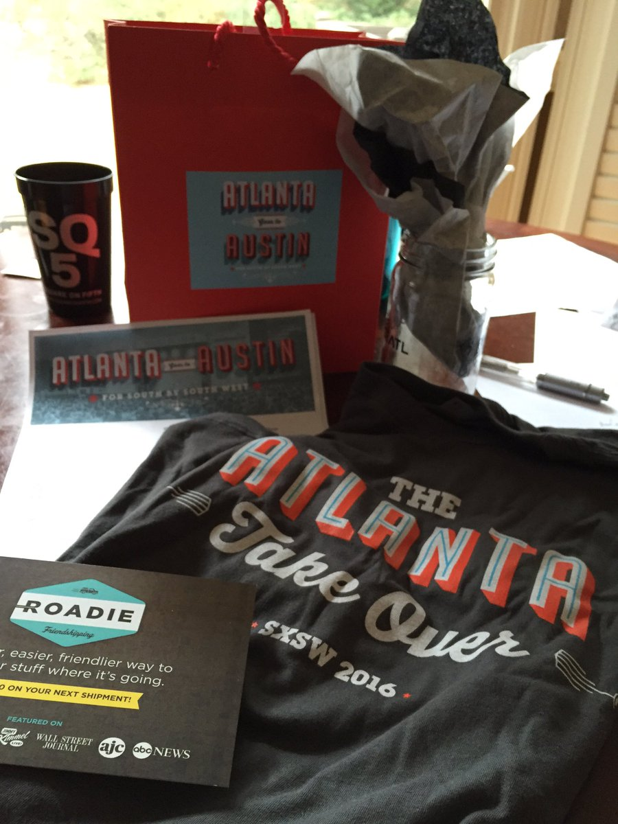 Looking forward to the @chooseATL SXSW house. @Roadie delivered my today. https://t.co/ys3IOHOyRe