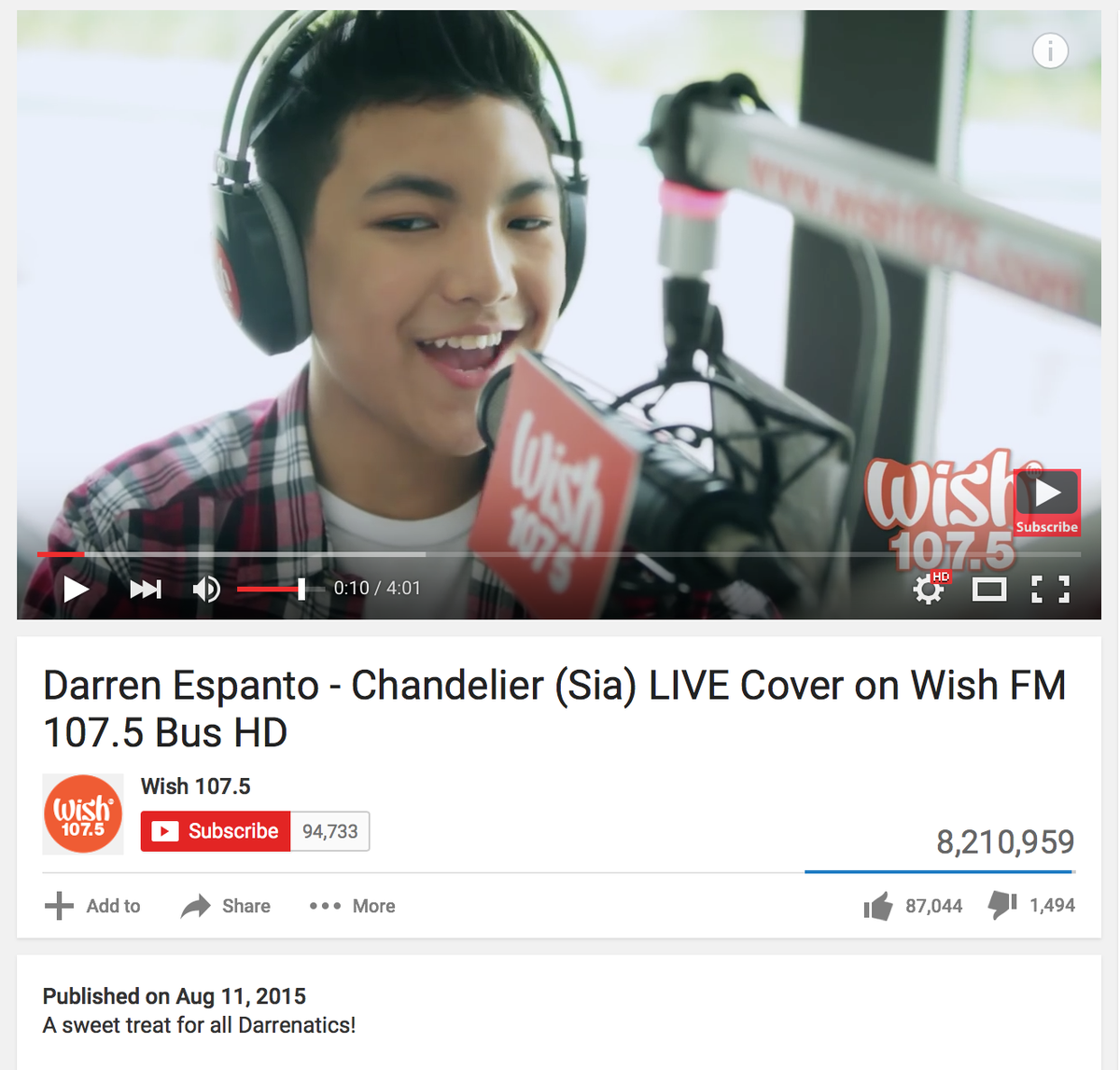 Filipino singer Darren Espanto earned superb reactions for his cover song Chandelier. #Darrenatics #DarrenEspanto https://t.co/vcDiKrgqcu