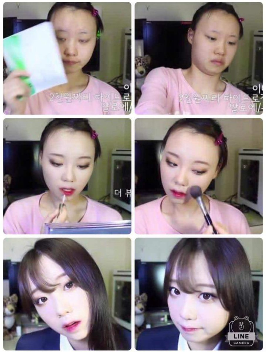 You all say it's surgery but that just means you don't know that Korean makeup is basically black magic. https://t.co/bZKJCoBNI6