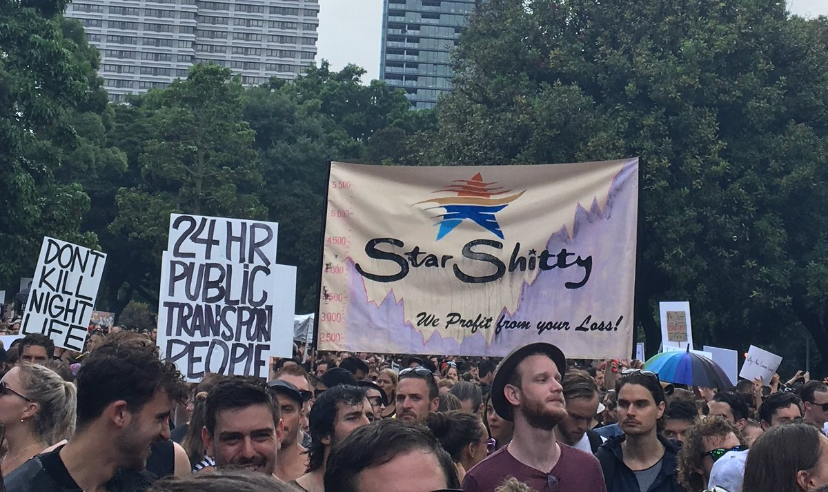 15,000 Australians protest against Sydney's controversial nightlife laws