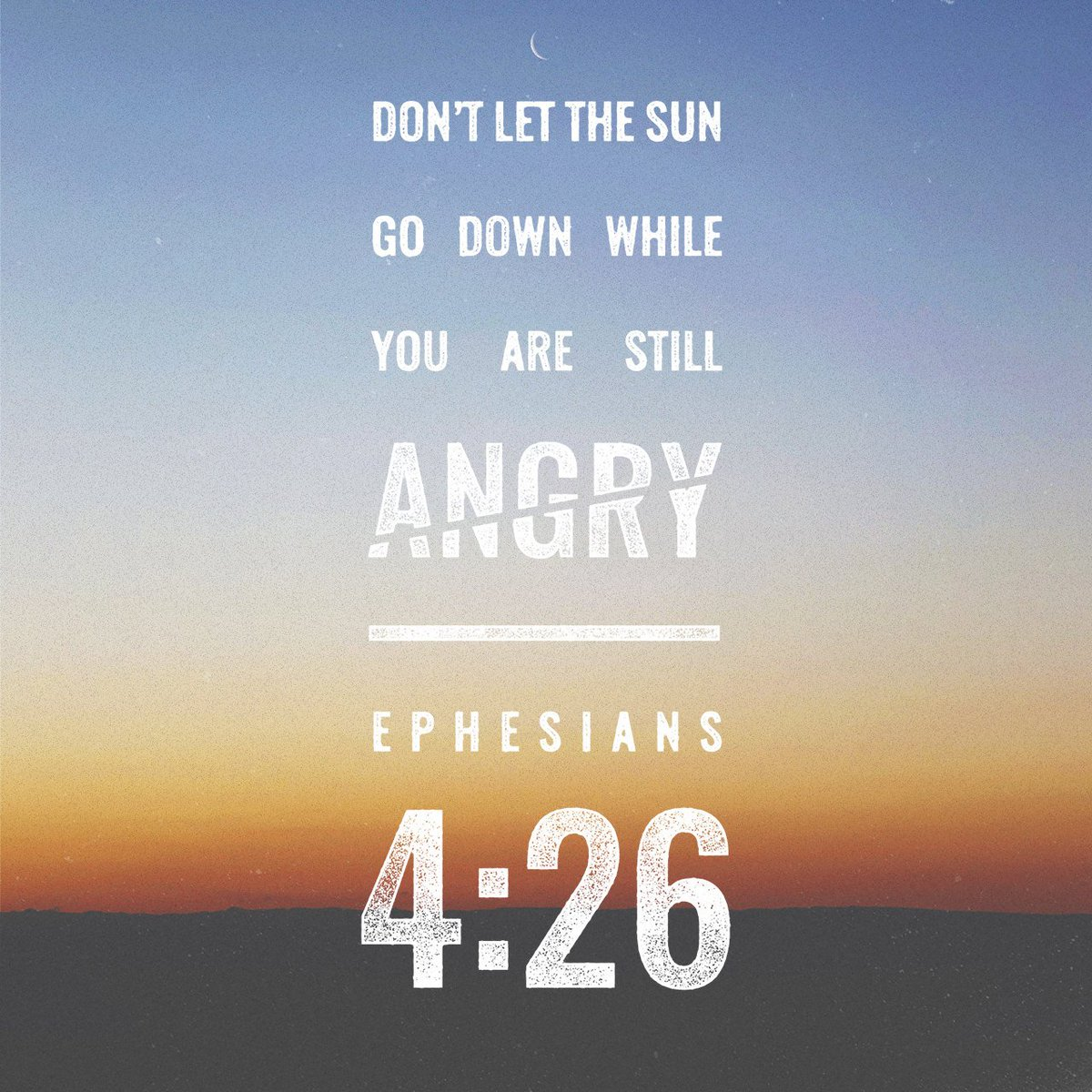 """Anger Verses: Daily Bible Verse On Twitter: """"And """"don't Sin By Letting"""