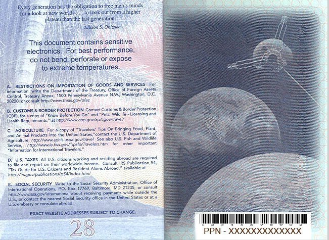 american passport last page - photo #2