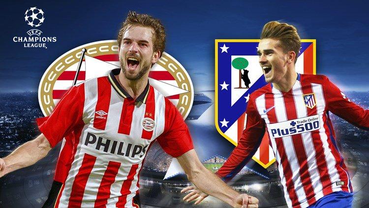 Streaming PSV ATLETICO MADRID : vedere gratis oggi Diretta Calcio Champions League 2016