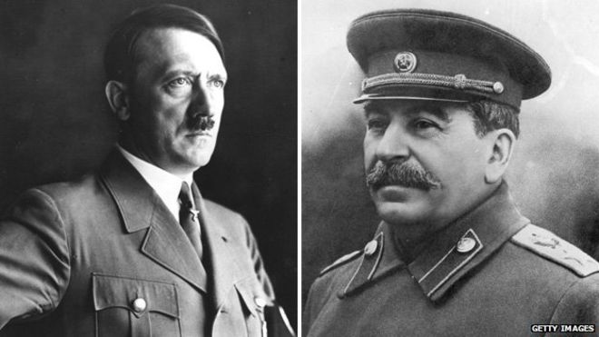 a comparison of the similarities and differences between the dictators adolf hitler and joseph stali